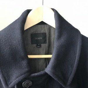 J. Crew 100% Wool Peacoat (Navy Blue)